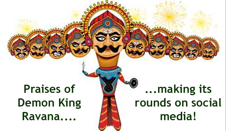 Praises of Demon King Ravana…. making its rounds on social media!