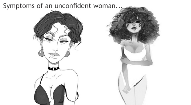 Symptoms of an unconfident woman